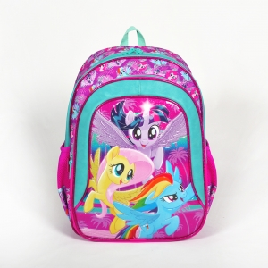 My Little Pony - My Little Pony İki Bölmeli Pembe Okul Çantası