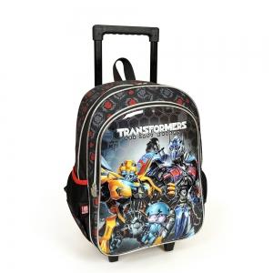 Transformers - Transformers İki Bölmeli Siyah Çekçekli Okul Çantası (1)