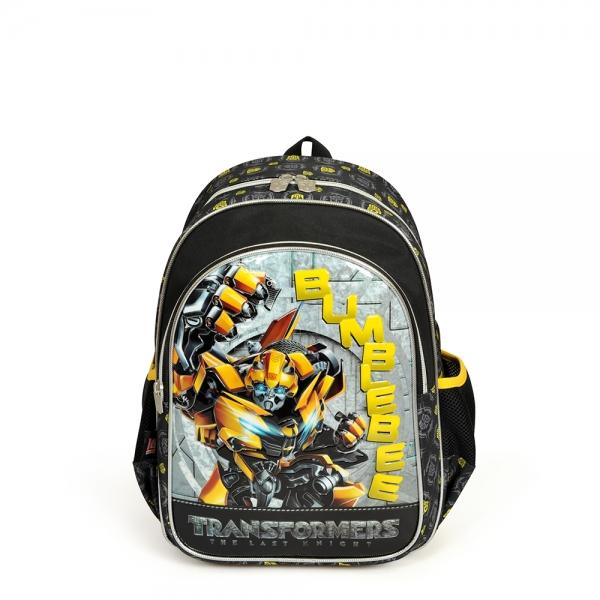 Transformers İki Bölmeli Siyah Okul Çantası
