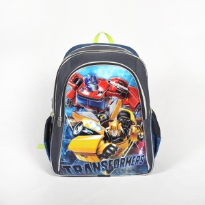 Transformers - Transformers Üç Bölmeli Gri Okul Çantası