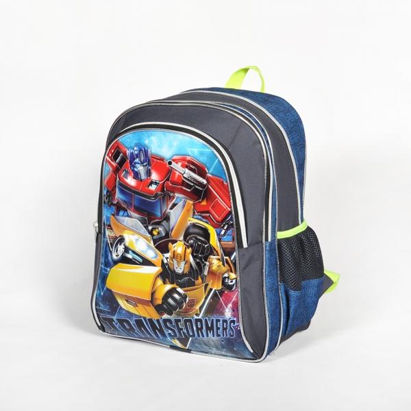 Transformers Üç Bölmeli Gri Okul Çantası