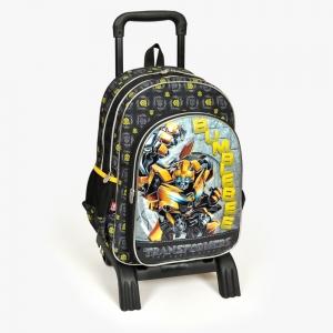 Transformers - Transformers Üç Bölmeli Siyah Çekçekli Okul Çantası (1)