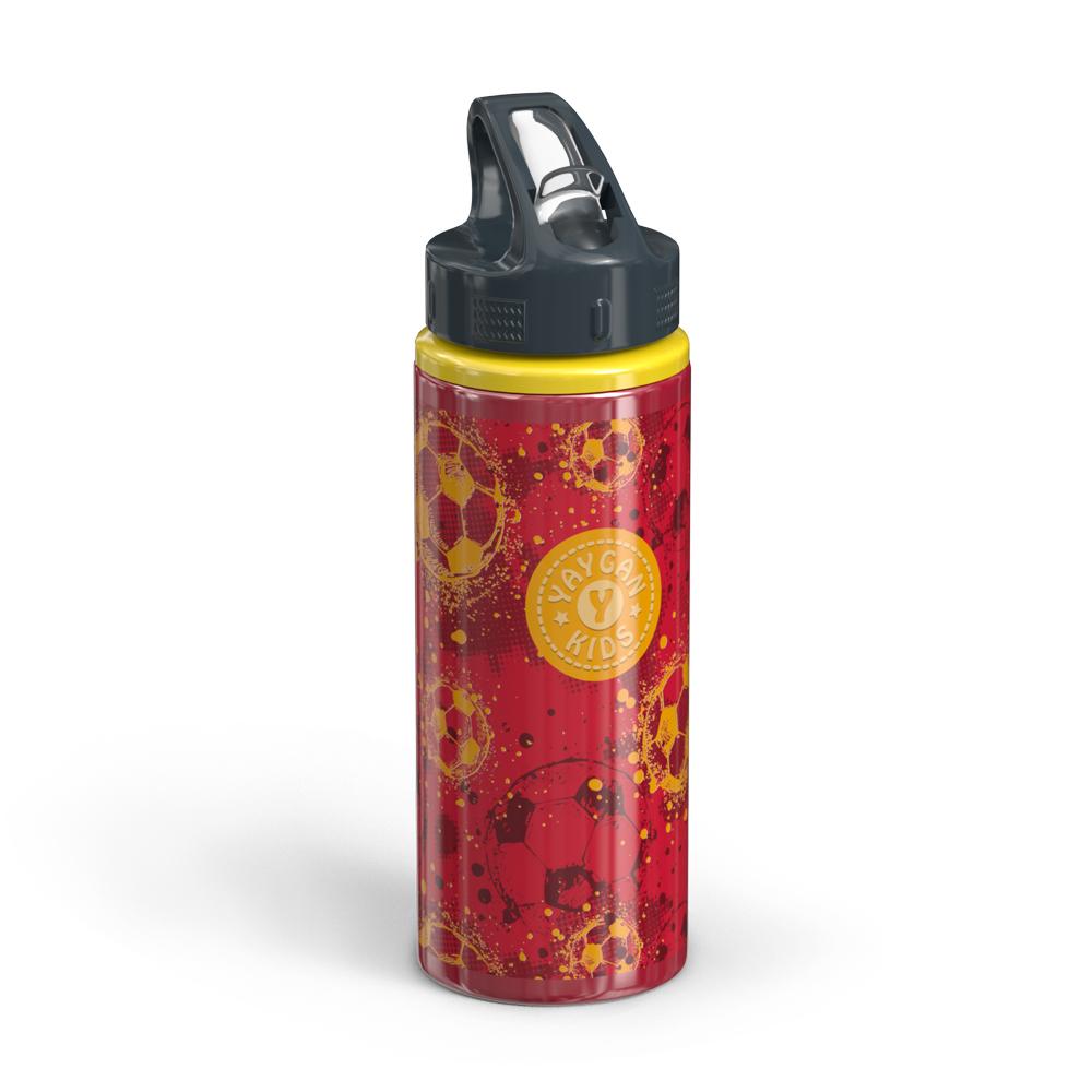 Yaygan Kids - Yaygan Kids Kırmızı Pipetli Alüminyum Matara (600 ml.)