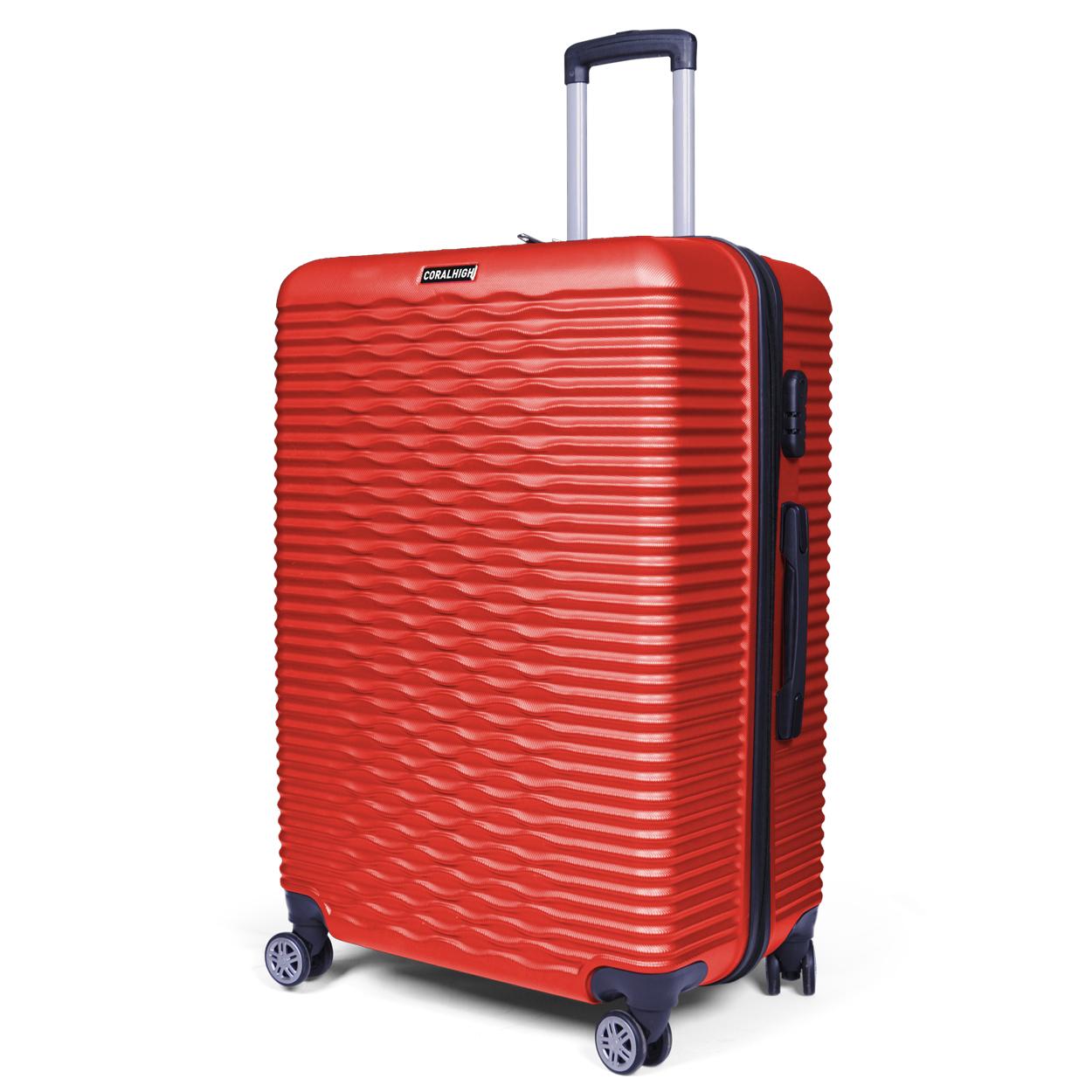 Coral High - Coral High Kırmızı Büyük Boy 70 cm Litre Seyahat Valizi