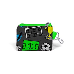 Coral High KIDS - Coral High Kids Gri Futbol Desenli Bozuk Para Çantası (1)