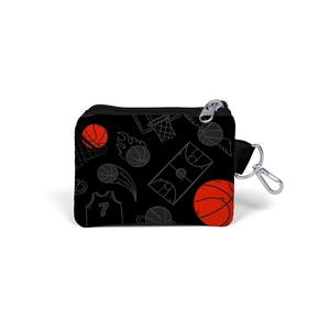 Coral High KIDS - Coral High Kids Siyah Basketbol Desenli Bozuk Para Çantası (1)