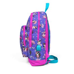 Coral High KIDS - Coral High Kids Lavanta Kız Desenli Dört Bölmeli USB Şarjlı Kulaklık Çıkışlı Okul Sırt Çantası (1)
