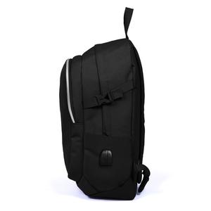 Coral High Sport - Coral High Sport Siyah İki Bölmeli Kilit Tokalı USB Şarjlı Kulaklık Çıkışlı Sırt Çantası (1)