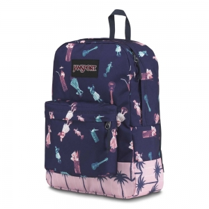 Jansport - Jansport Black Label Desenli - Mor Sırt Çantası (1)