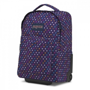Jansport - Jansport Wheelled Superbreak Desenli - Mor Point Çekçek Çantası (1)