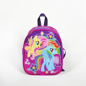 My Little Pony - My Little Pony İki Bölmeli Mor Anaokul Çantası