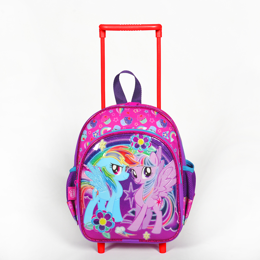 My Little Pony - My Little Pony İki Bölmeli Mor Çekçekli Anaokul Çantası