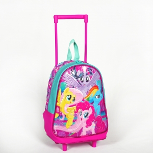 My Little Pony - My Little Pony Tek Bölmeli Pembe Çekçekli Anaokul Çantası (1)