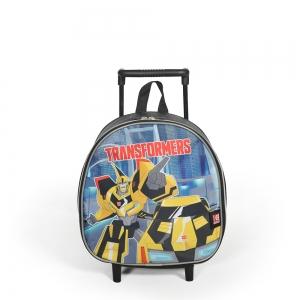 Transformers - Transformers Bir Bölmeli Siyah Çekçekli Anaokulu Çantası