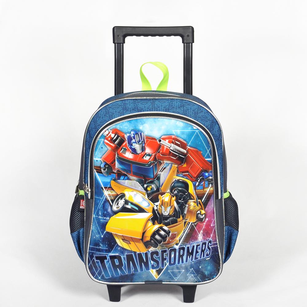 Transformers - Transformers İki Bölmeli Gri Çekçekli Okul Çantası