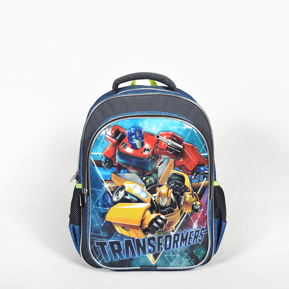 Transformers - Transformers İki Bölmeli Gri Okul Çantası