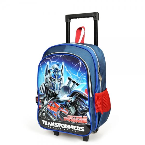 Transformers İki Bölmeli Lacivert Çekçekli Okul Çantası