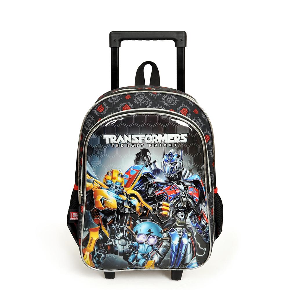 Transformers - Transformers İki Bölmeli Siyah Çekçekli Okul Çantası