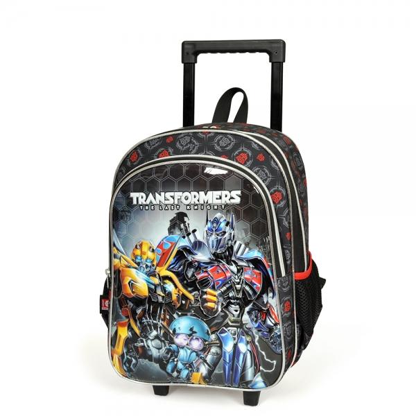 Transformers İki Bölmeli Siyah Çekçekli Okul Çantası