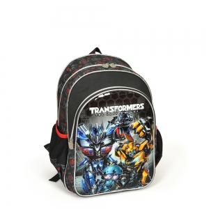 Transformers - Transformers İki Bölmeli Siyah Okul Çantası (1)