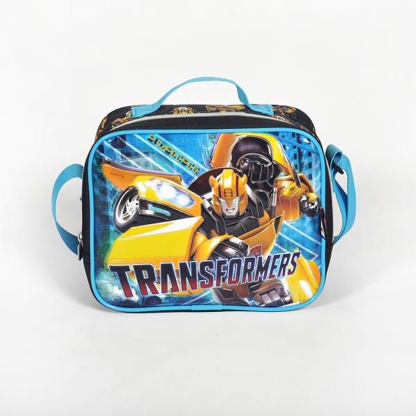 Transformers Tek Bölmeli Siyah Beslenme Çantası