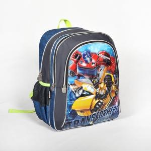 Transformers - Transformers Üç Bölmeli Gri Okul Çantası (1)