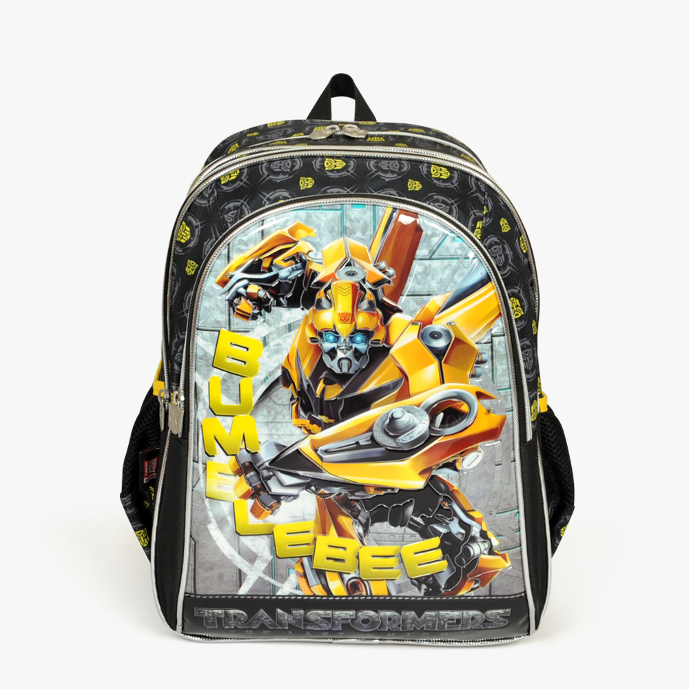 Transformers - Transformers Üç Bölmeli Siyah Okul Çantası
