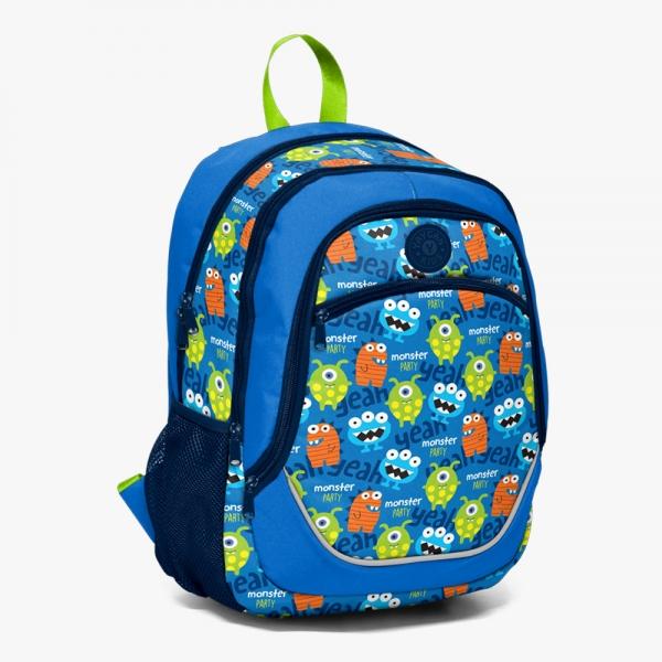 Yaygan Kids Dört Bölmeli Desenli-Mavi Okul Çantası